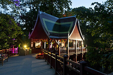 Asian pagoda in the evening